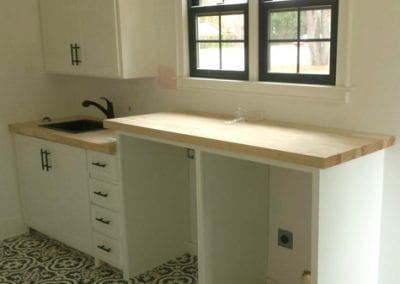 Custom built laundry room